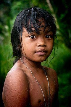 Portret van een meisje in Bali