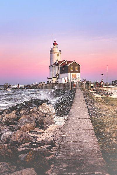 Lighthouse at sunset (Marken)