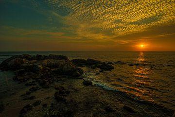 Sonnenuntergang über dem Ozean von Thijs van Laarhoven
