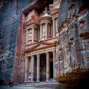 Schatkamer - Petra, Jordanië van