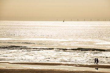 Noordzee Kust bij Tegenlicht von Brian Morgan