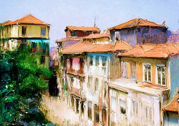 Straatje Porto van Frans Jonker