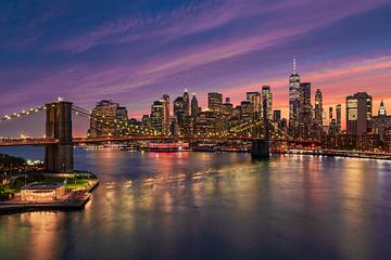 Zonsondergang in New York van Michael Abid