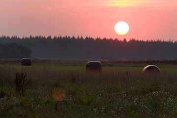 Zonsondergang in Oosterhesselen sur Ronald Jansen
