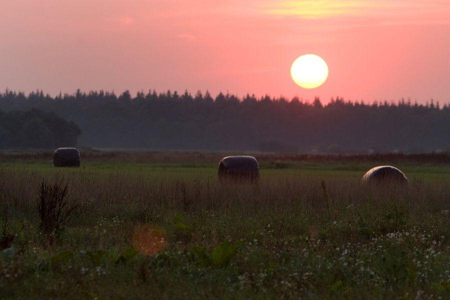 Zonsondergang in Oosterhesselen van Ronald Jansen