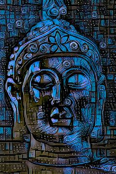 Boeddha - de Vreugde in Blauw van Michael Ladenthin