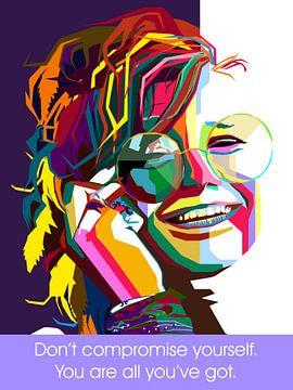 Pop Art Janis Joplin von