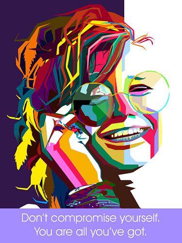 Pop Art Janis Joplin van