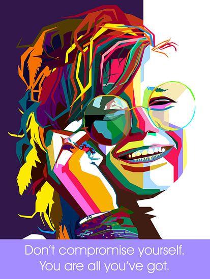 Pop Art Janis Joplin van Jan Willem van Doesburg