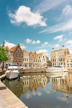 Le vieux port de Middelburg (vertical) sur Just Go Global