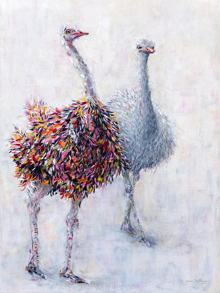 Straußenpaar von Carmen de Bruijn