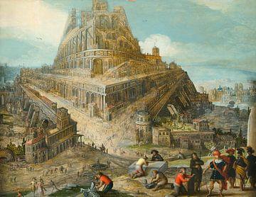 Le roi Nimrod, qui a ordonné la construction de la tour de Babel, Louis de Caullery