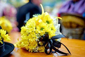 Historischer Trachten-Blumenstrauß von Annette Sandner