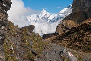 Bergpad in de Zwitserse Alpen van