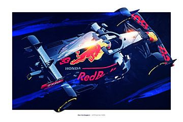 Max Verstappen sur Nylz Race Art