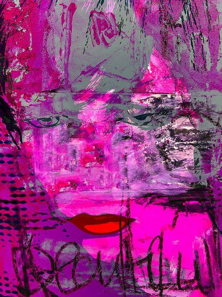 Red lips and pink van Gabi Hampe