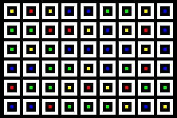 Nested | Center | 09x06 | N=02 | Random #02 | RGBY van Gerhard Haberern