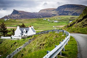 Typisch landschap in Schotland
