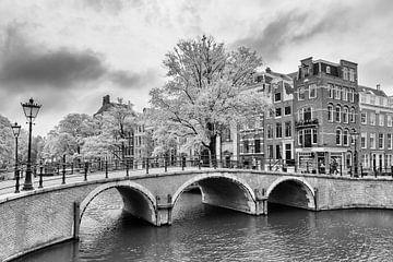 Brug over de Prinsengracht – Amsterdam van Tony Buijse
