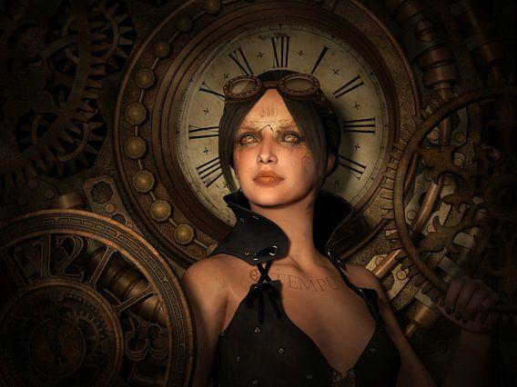 Female Steampunk Time Keeper van Britta Glodde