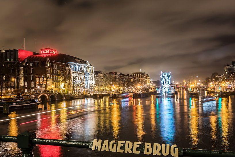 Magere Brug Amsterdam van Robin Voorhamm