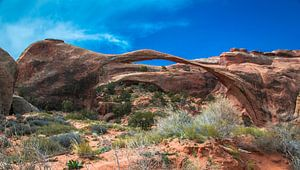 Landscape arch in Arches Nationaal Park, Utah