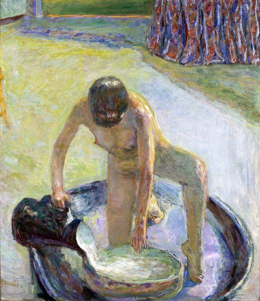 Nackt in der Badewanne gehockt, Pierre Bonnard, 1918 von Atelier Liesjes