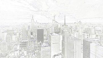 Skyline New York City von Studio de Waay