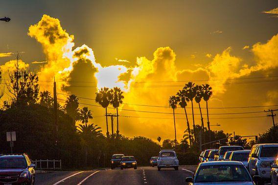 Santa Barbara sunset van Bas Koster