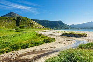 Haukland Beach auf den Lofoten in Norwegen von Rico Ködder