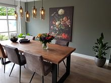 Kundenfoto: Jan Davidsz de Heem. Vase mit Blumen, auf leinwand