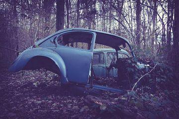 Auto achtergelaten in het bos van Tamara de Koning
