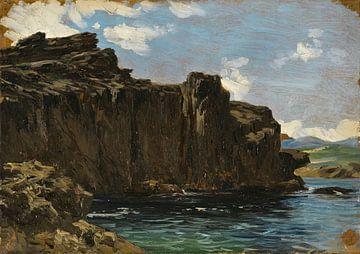 Carlos de Haes Ansichten des Meeres, Antike Landschaft