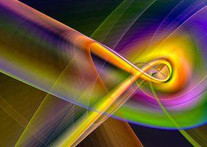 Linien und Kurven Regenbogen