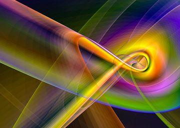 Linien und Kurven Regenbogen von Max Steinwald