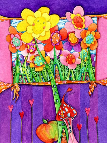 Zonnebloem - Kunst voor Kinderen van Atelier BuntePunkt