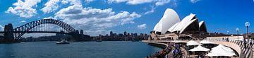 Sydney Operahuis en Harbour bridge panorama van