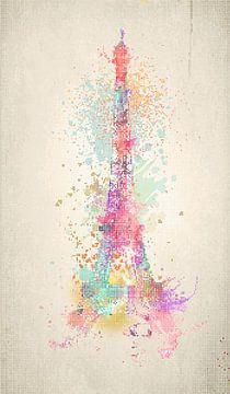 Eiffelturm Dots von Marion Tenbergen