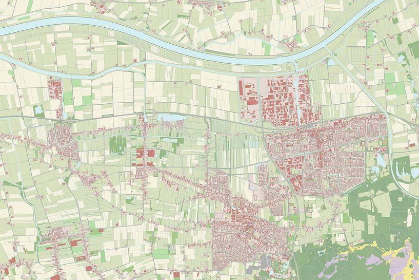 Kaart vanWaalwijk van Rebel Ontwerp