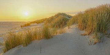 Zonsopkomst op het strand van Terschelling van Dirk van Egmond