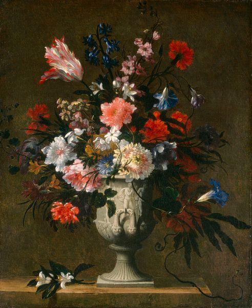 Blumen in einer klassischen Vase, französisch 17. Jahrhundert von Meesterlijcke Meesters