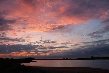 Zonsondergang aan het strand van Geert Visser