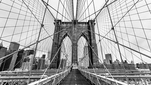 Brooklyn Bridge - New York (schwarz weiß) van