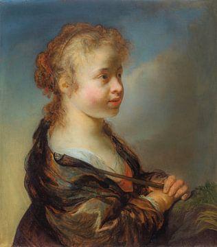 Porträt eines Mädchens als Schäferin, Govert Flinck