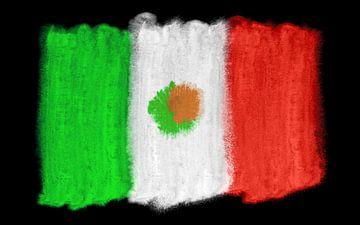 Symbolische nationale vlag van Mexico van Achim Prill