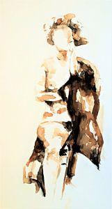Sitzende weibliche Nacktheit