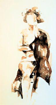 Sitzende weibliche Nacktheit von Ineke de Rijk