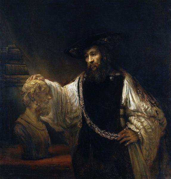 Rembrandt. Aristotles met buste van Homer van 1000 Schilderijen
