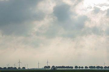 Windmolens bij Almere (Flevoland) von Kaj Hendriks
