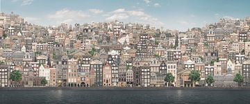 Heuvelachtig Amsterdam. sur Olaf Kramer